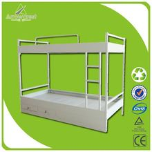 Fahion style customized metal double loft bed