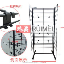 Free standing double sides cellular phone accessory display for retail