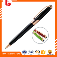 Writing length can reach 800m pink metal ball pen with touch