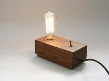 Vintage Edison Bulbs Wooden Table Lamp