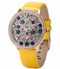 2014 Fashion woman watch women diamond metal supplier from China metal watch for wholesale