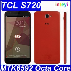 Original TCL S720 WCDMA MTK6592 Octa Core 1.4GHz Android Mobile Phone 1G RAM 8G ROM 5.5'' IPS 1280*720 8MP OTG 3300mAh In Stock