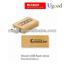 OEM gift 1gb bamboo wood usb flash drive, high speed usb flash memory, eco-friendly wooden/bamboo usb with FSC certificate
