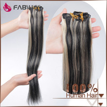 Fabwigs alibaba express fast delivery top quality silky straight clip on hair extensions natural hair