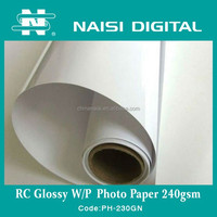 best quality waterproof inkjet RC glossy a4 photo paper 240gsm