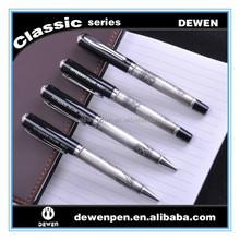expensive roller pen, high quality metal roller ball pen, customized embossed barrel pen