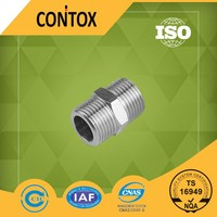 """B401 China supplier male 1/4"""" threaded double brass compression nipple fittings"""