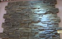 black slate ledge stone wall tile