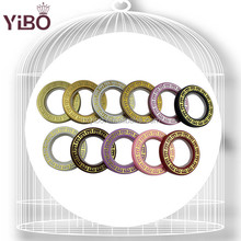 Fashion curtain accessories plastic curtain ring plastic curtain eyelets ring