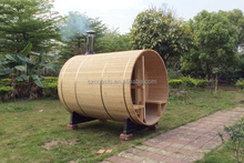 Outdoor Sauna Barrel Room