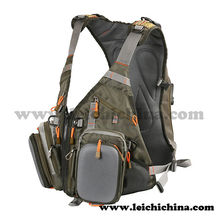 Professional fishing outfit numerous pockects fly fishing vest pack