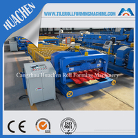 cnc aluminum colored metal glazed tile roof panel roll forming machine price