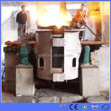 Energy saving industrial medium frequency induction steel melting furnace