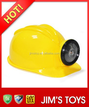 Yellow Safety Helmet with LED Miner Lamp Construction Helmet