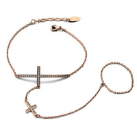 fashion DIY bracelet_925 silver snake chain bracelt cross bracelet charm bracelet from guangzhou wholesale market