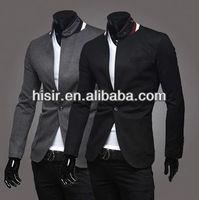 2014 new men single breasted lapel design roman material blazer 2 colors 4 sizes Q00-X27