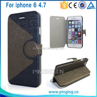 New arrival leather case for iphone6 flip case,phone case for iphone
