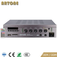 Public Address USB SD FM Tuner Bluetooth 70V 100V Mixer audio Amplifier 12V dc with remote control