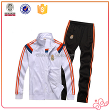 Mens soccer Tracksuit 100% polyester tricot for training