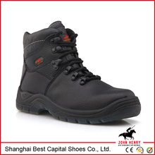 2014 genuine leather high heel industry safety boot /safety shoes