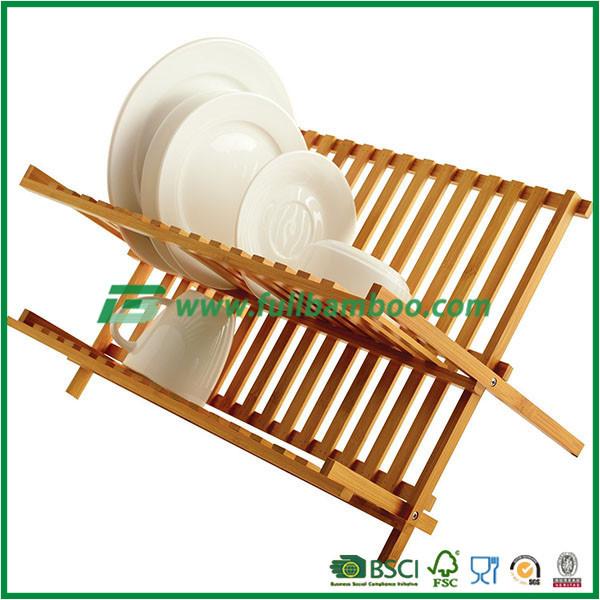 현대 부엌 디자인 대나무 판 스토리지 접이식 접시 랙-스토리지 ...