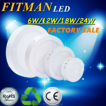 CE&RoHS led panel light surface mounted 6W 12W 18W 24w LED surface panel light