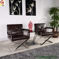 أثاث المكاتب المعدنية والجلدية كرسي الترفيهية/ القهوة الفولاذ المقاوم للصدأ كرسي