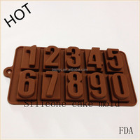 New Arrival numbers and letters 3D shape silicone mold chocolate fudge cake decorated lollipop molds