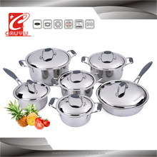 12 pcs stainless steel cooking set with lid cookware