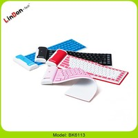 Folding Silicone Rubber Bluetooth Keyboard for iPad mini, colored Keyboard for iPad mini
