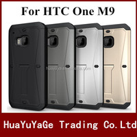 New Arrival phone cases TPU +PC 4-in-1 Armored Tank Kickstand case with sereen Guard for HTC One M9