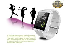 for iPhone 4/4S/5/5S Samsung S4/Note 2/Note 3 for HTC Android Smart phone Smart watch mobile phone U8 smart watch