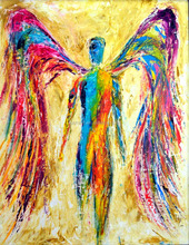 Abstract special variety female angel wings painting wholesell price hand-painted oil painting in the canvas