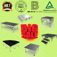 Acrylic Wooden Platform Stage Curtain Outdoor Concert stage Sale Roof Truss Stage Design