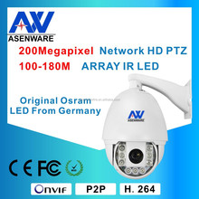 Outdoor PTZ CCTV Camera IR 100-180M Dome 1080P IP66 360 Degree Rotating with Excellent Heat Dissipation