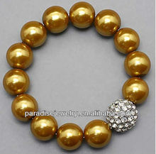 2012 Wholesale high-quality crystal charm beaded Bracelet-14pcs/row-B22037-5
