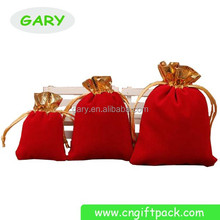 pretty cust shape velvet bag wedding gift bag