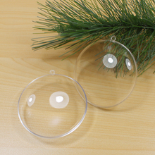 hot selling wholesale 70mm openable clear acrylic christmas ornament