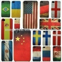 Mobile phone case Old Country Flag Back hard cover case for iphone 4 4s, for iphone 4 case crystal , for iphone case 4s 5s 6