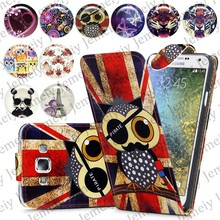 Hot! Printed PU leather Stand Phone Case, Card Holder Magnetic Wallet Skin, Folding Top Flip Cover For Samsung Galaxy E7 E700