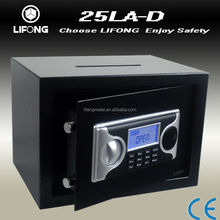 LCD display small drop safes secure storage for cash