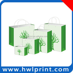cheap recycled foldable shopping paper bags
