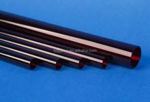 Design best sell dark red quartz heater tube