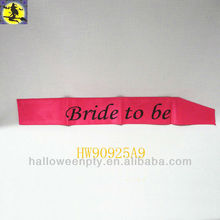 Rose Fashion Hand Dyed Silk Ribbon Bridal Sash
