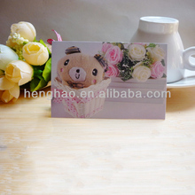 2014 hot sale Popular customized competitive price message card