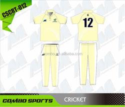 Custom sublimated cricket training polo shirt and pants