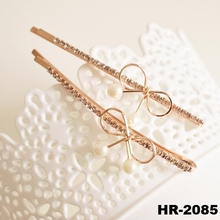 New products 2016 fashion hair accessories new style hot sale metal golden berrettes with pearl hairpins for hair hairpin