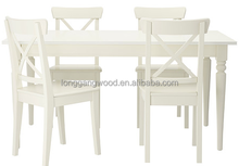 Custom Pine Wooden furniture tables and chairs restaurant furniture set table and chair the canton fair wood furniture