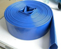 blue flat hose with mxf pipe thread