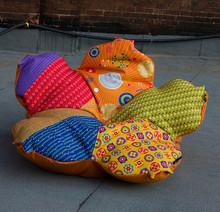 fashion Outdoor canvas flower shaped zebra print bean bag chair sofa lounge , beautiful beanbag chair factory